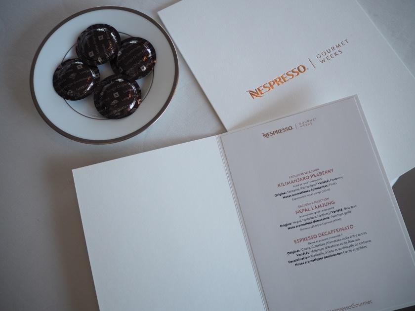 Nespresso Gourmet Weeks Hôtel Président Wilson